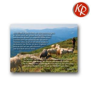 Postkarte Psalm 23 90-0085