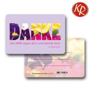 20er-Pack Kleinkärtchen DANKE 90-0092