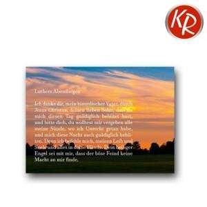 Postkarte Luthers Abendsegen 90-0103